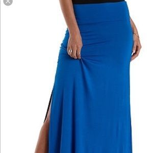 Long maxi skirt with slits on both side